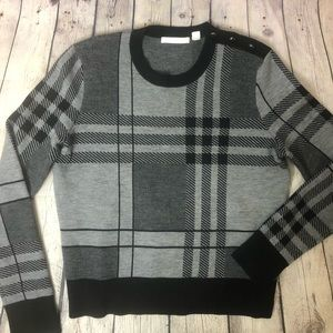 Hugo Boss Plaid Wool Sweater